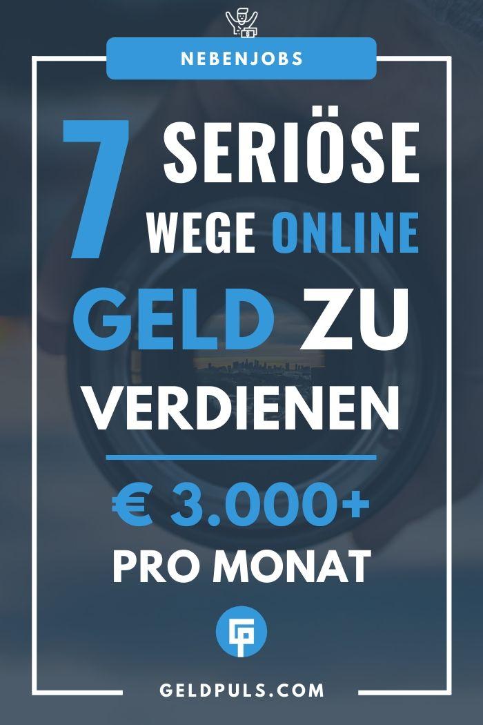 7 seriöse Wege online Geld zu verdienen + Geheimtipp für 3.000€ pro Monat