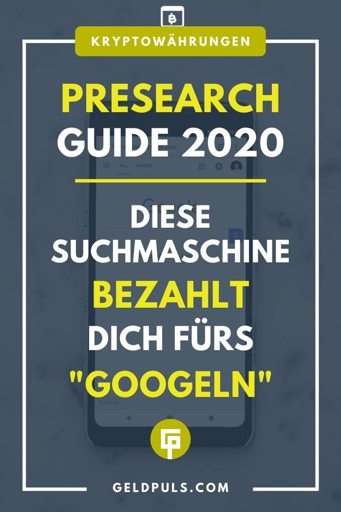 "Presearch Guide 2020: Mit ""Googeln"" Geld verdienen"